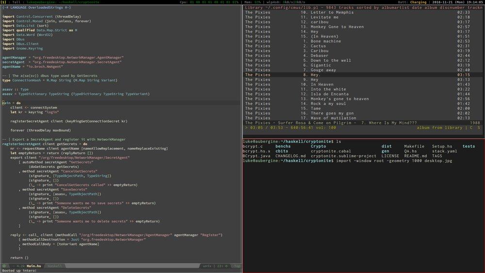 broch io - Linux Setup with XMonad